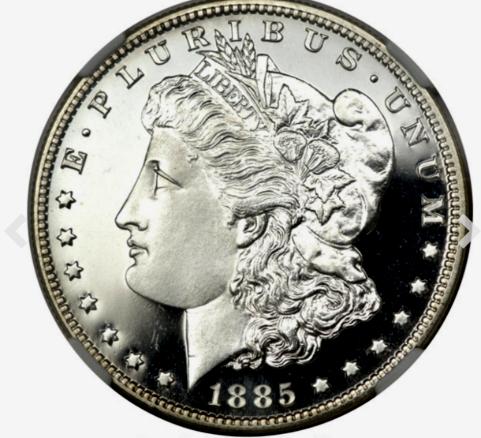 1885 Morgan Silver Dollar Proof