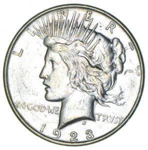 1923 Silver Peace Dollar (D)