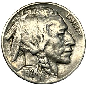 1928 buffalo nickel error