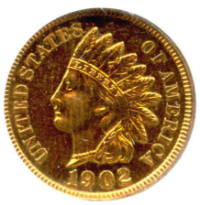 1902 Indian Head Penny (RD)