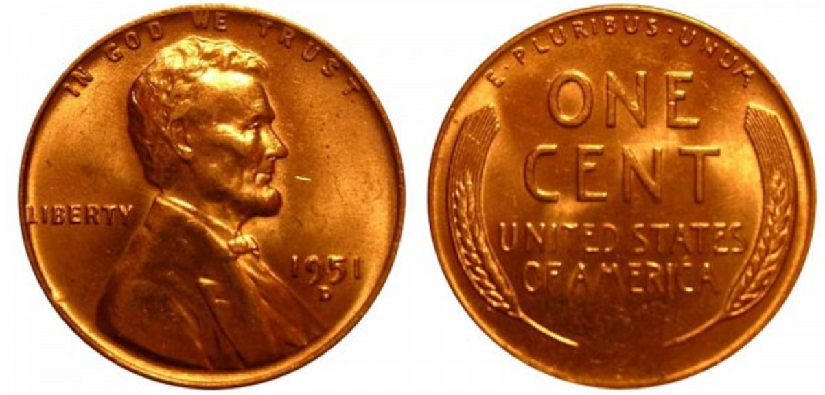 1951 D Wheat Penny Value